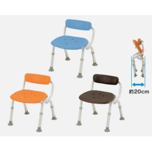 風呂椅子 パナソニックシャワーチェア ユクリア コンパクト腰当付おりたたみN PN-L40921 背もたれタイプ|okitatami