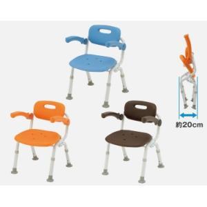 風呂椅子 バスチェア シャワーベンチ パナソニックシャワーチェア ユクリア コンパクトSPおりたたみN PN-L41321 背もたれ・ひじかけタイプ|okitatami