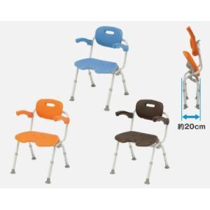 風呂椅子 バスチェア シャワーベンチ パナソニックシャワーチェア ユクリア ワイドSPワンタッチU型おりたたみN PN-L41521【背もたれ・ひじかけタイプ】|okitatami