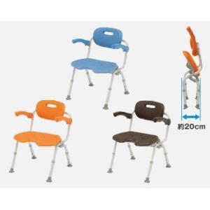 風呂椅子 バスチェア シャワーベンチ パナソニックシャワーチェア ユクリア ワイドSP U型おりたたみN PN-L41621 背もたれ・ひじかけタイプ|okitatami