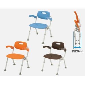 風呂椅子 バスチェア シャワーベンチ パナソニックシャワーチェア ユクリア ミドルSPおりたたみN PN-L41721 背もたれ・ひじかけタイプ|okitatami