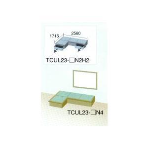 畳 ボックス 収納 高床 ユニット 楽座 プランL-1 変形L型二畳タイプ引出付き|okitatami