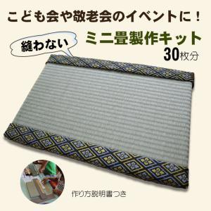 ミニ畳 キット 製作 天然いぐさ 子ども会  敬老会 イベント 製作キットBタイプ お得な無包装30枚|okitatami