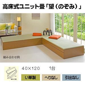 畳 ボックス 収納 高床 ユニット望 II型 へりなし 40×120|okitatami