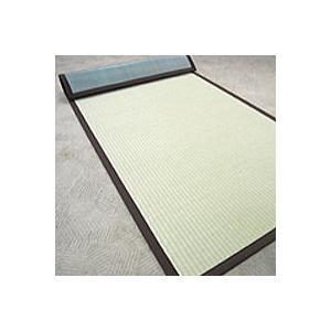 ロール畳 い草風 セキスイロール畳 900mm×4m へりつき  引き目タイプグリーン|okitatami