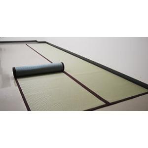 ロール畳 い草風 セキスイロール畳 900mm×4m へりつき  引き目タイプグリーン okitatami 02