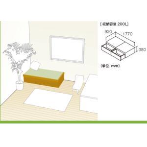 NEW 畳が丘 プランNO.02 1畳 二方壁納まり 畳 ボックス 収納 高床 ユニット パナソニック|okitatami