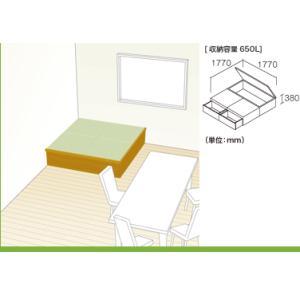 畳 ボックス 収納 高床 ユニット パナソニック NEW 畳が丘 プランNO.05 2畳 二方壁納まり|okitatami