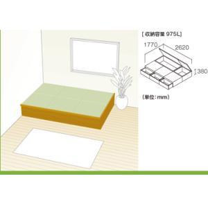 NEW 畳が丘 プランNO.06 3畳 二方壁納まり 畳 ボックス 収納 高床 ユニット パナソニック|okitatami