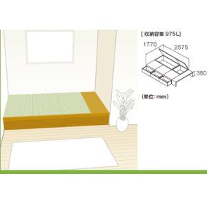 畳 ボックス 収納 高床 ユニット パナソニック NEW 畳が丘 プランNO.07 3畳 三方壁納まり+カットフリーボード|okitatami