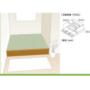 畳 ボックス 収納 高床 ユニット パナソニック NEW 畳が丘 プランNO.09 4.5畳 三方壁納まり|okitatami