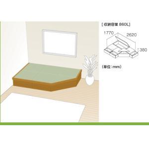 NEW 畳が丘 プランNO.13 2.75畳 二方壁納まり畳 ボックス 収納 高床 ユニット パナソニック|okitatami