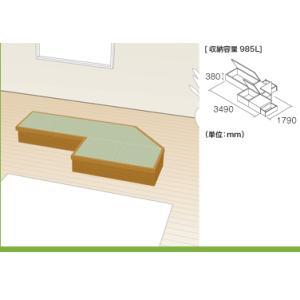 畳収納ユニット 小上がり 高床式ユニット畳 畳が丘 プランNO.14 2.75畳 アイランド納まり  パナソニック okitatami