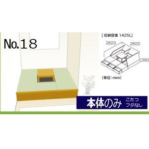 畳 ボックス 収納 高床 ユニット パナソニック NEW 畳が丘 プランNO.18 4.5畳 三方壁納まり  本体のみ|okitatami