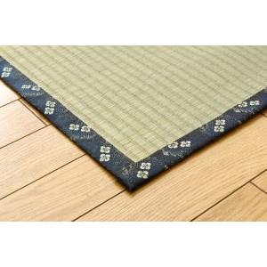 国産 い草糸引織い草上敷きござ「梅花」江戸間2畳(約176×176cm|okitatami