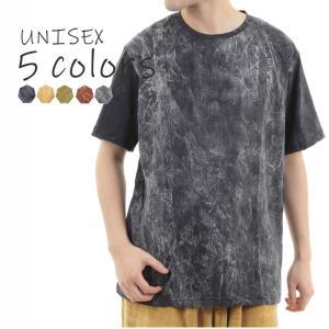 素材構成: コットン OKI(オキ)のストーンウォッシュTシャツです。メンズレディース両用のユニセッ...