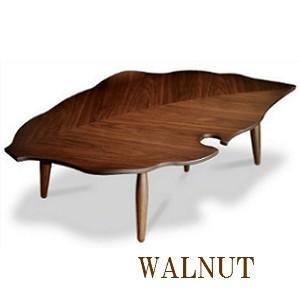こたつ 葉っぱ 家具調こたつ 落ち葉 130 こたつテーブル デザインコタツ 3D 変形 日本製  炬燵 こたつ コタツ おちば ウォールナット|okkagufa-mu