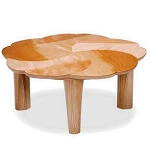 こたつ 家具調こたつ チェリー こたつテーブル 90cm 花 円形 リビング 花びら グラデーション 折りたたみ 折れ脚|okkagufa-mu