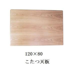 こたつ天板 こたつ天板のみ 長方形 こたつ板 120×80cm こたつ天板のみ タモ突板 コタツ天板 ナチュラル|okkagufa-mu