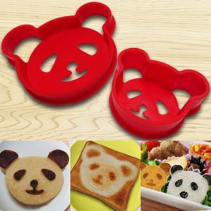 パンダ形のパンケーキの型です。お弁当にオムライスやおにぎり♪ トーストにも! 大小、二つのサイズがあ...