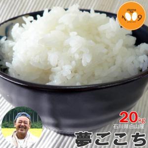 新米予約 20kg 玄米 石川県白山産 夢ごこち 吉左エ門 令和3年産 特別栽培米(減農薬) okomeno1009