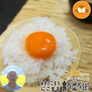 新米 食べ比べ 玄米 20kg (10kg×2) 滋賀県東近江産 あきたこまち にこまる 令和元年産 大橋忠喜 okomeno1009
