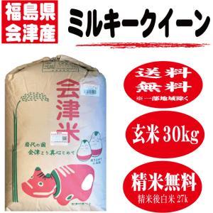 29年産新米 玄米30kg 送料無料 栃木県産ミルキークイー...