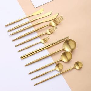ゴールド カトラリーセット 食器304 ステンレス 鋼のディナー スプーン フォーク 箸 デザート ティーアイス スプーン 食器 銀器|okuda-store