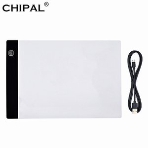 CHIPAL A4 LED 描画 タブレット デジタル グラフィック パッド USB LED ライト ボックス ボード 電子 アート グラフ okuda-store