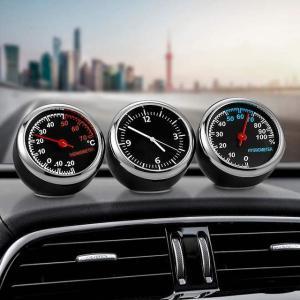 ミニ 車 の デジタル 時計 自動 腕 時計 自動車 温度計湿度計 装飾 飾り 時計 で 自動車 の カー アクセサリー ダ|okuda-store