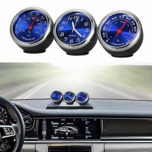 車 のクロック 自動 時計 温度計湿度計ホーム 自動車 インテリア 装飾 飾り 自動車 時計 車 の アクセサリー ダッシ|okuda-store