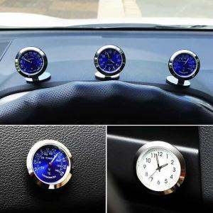 車 時計 飾りクリエイティブ発光クロック温度計 自動車 自動車 インテリア デジタル 腕 時計 装飾 カー アクセサリー|okuda-store