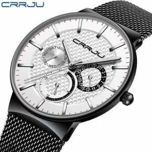 レロジオmasculino crrju メンズ ウォッチ 高級 超薄型 腕時計 クロノグラフ スポーツ ウォッチerkek saatiリロイ|okuda-store
