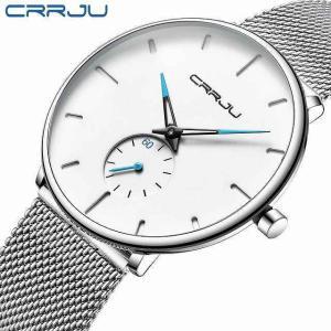 Crrju スポーツ メンズ スリム 腕時計 高級 防水 スポーツ 腕時計 男性 超薄型ダイヤルクォーツ 腕時計 カジュアルレロジオmasc|okuda-store