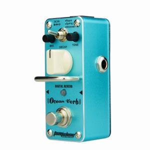 アロマ海動詞デジタルリバーブペダルギター効果processsor 3モード金属効果ペダルエレキギター部品アクセサリー|okuda-store