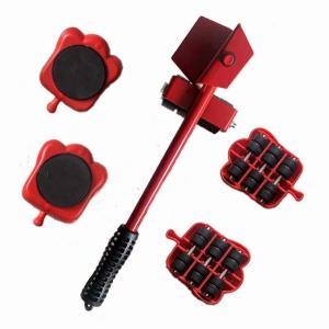 ZK50 5個の家具輸送リフター ツール セット 家具ムーバー ホイール バーローラ装置ヘビー原料移動 ハンド ツール アクセサリー okuda-store