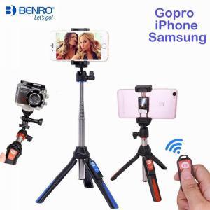 Benro Bluetooth Selfie スティック 三脚 拡張可能なセルフポートレート 一脚 iphone 4 用 三脚 XS サムス okuda-store