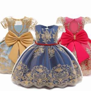 ドレス 1st 誕生日 パーティー 新生児 服0-6歳 プリンセス フォーマル ドレス 刺繍 フラワー vestidos okuda-store