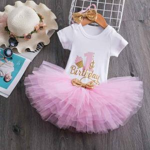 最初 クリスマス 新年 衣装 幼児 女の子 誕生日 服 1 歳 赤ちゃん 洋服 ベビー キッズ ブティック 服 ドレス okuda-store