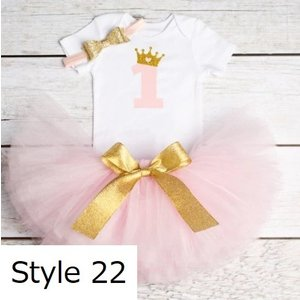 1 歳 誕生日 パーティー 女 赤ちゃん ドレス 新生児 ガール洗礼 ガウン ロンパース チュチュ ドレス ヘッドバンド 幼児 女の子 服 okuda-store