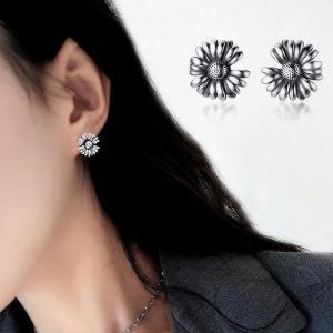 ヴィンテージ ファッション ひまわりデイジー 女性 の 女の子 レトロ人格クリエイティブフラワー イヤリング ステートメント ジュエリー|okuda-store