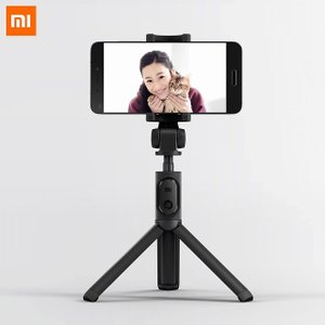 オリジナル xiaomi 折りたたみ三脚 selfie スティック bluetooth selfiestick ワイヤレス シャッター se okuda-store