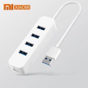 オリジナル新 xiaomi MIjia USB3.0 スプリッタ 4 ポート USB3.0 高速伝送汎用インタフェースのサポートホットスワッ okuda-store