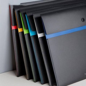新しいフィズ色二層ファイルバッグ防水 6 色プラスチック紙データ法案フォルダホルダー収納袋ファイルフォルダー 収納ケース ド|okuda-store