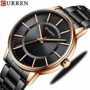 CURREN男の 腕時計 ファッション ステンレス 鋼クォーツ 腕時計 トップ シンプル な薄型 時計 relojesパラhombre|okuda-store