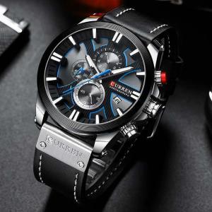 CURREN ファッション クロノグラフ 時計 男性 レザーが カジュアル スポーツ 男性 クォーツ 腕時計 レロジオ masculino|okuda-store