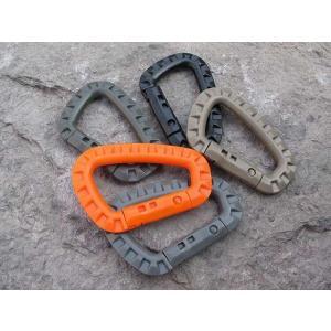 5 の ITW メディア戦術的なハイキング アクセサリー 屋外 カラビナトレッキング バックパック バックルプラスチックカラビナ 屋外 安全|okuda-store