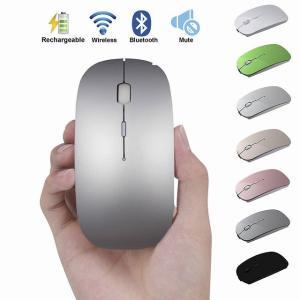 超薄型 充電 式 Bluetooth ワイヤレス マウスサイレントボタン USB 光学式マウス 充電 ケーブル コンピュータ Pc のラップ okuda-store