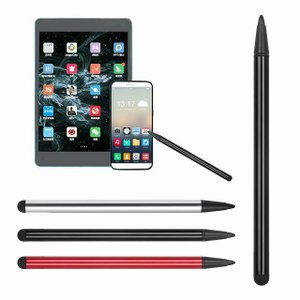 高精度 2 1 容量性ペンでタッチスクリーンスタイラス 鉛筆 錠 鉛筆 タブレット ipad と 携帯 電話  サムスン PC アクセサリー okuda-store