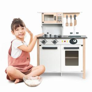 ビッグ 木製 プレイキッチン おもちゃ プレイふり おもちゃ キッズ&幼児ガールズ&ボーイズおままごとセット 野菜 okuda-store